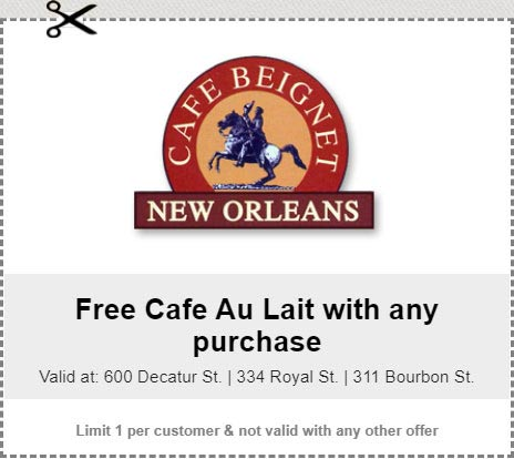 Free Cafe Au Lait with any purchase!