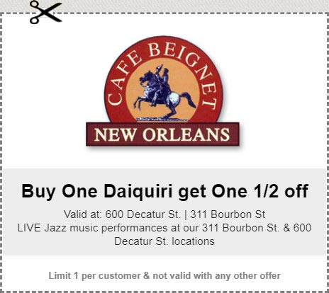 New Orleans Coupons >> Coupons Cafe Beignet